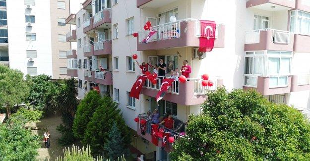 19 Mayıs'ı 'Apartman Festivali' ile kutladılar!
