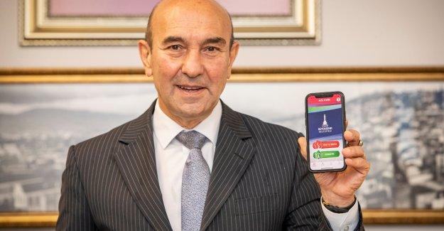 """""""Acil İzmir"""" mobil uygulaması hizmete girdi"""