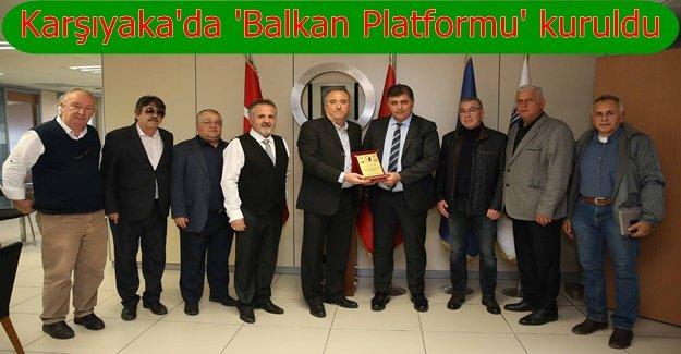 Balkan derneklerinden Başkan Tugay'a teşekkür ziyareti
