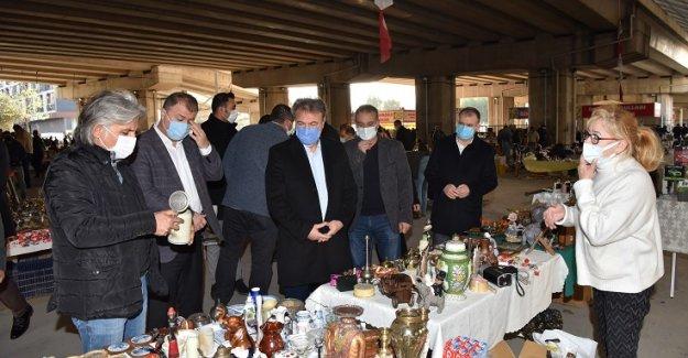 Başkan İduğ, Bit Pazarı'nda ki denetimlere katıldı