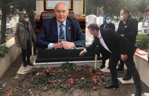 BAYSAK'IN KABRİNE ATA DİYARINDAN TOPRAK