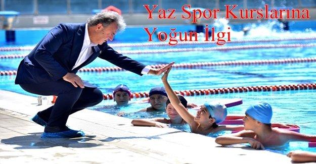 Bornova Belediyesi'nin yaz spor kursları başladı
