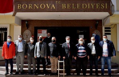 Bornova Kulüpler Birliği yeni yönetimden Başkan İduğ'a ziyaret