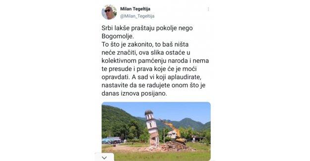 Boşnak Nana Fata'nın bahçesindeki kilise yıkıldı Sırplar Savaş çığlığı aymaya başladı