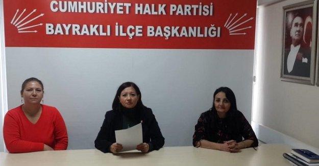 CHP Bayraklı İlçe Kadın Kolları 2020 yılı değerlendirmesi Basın Açıklaması gerçekleştirdi