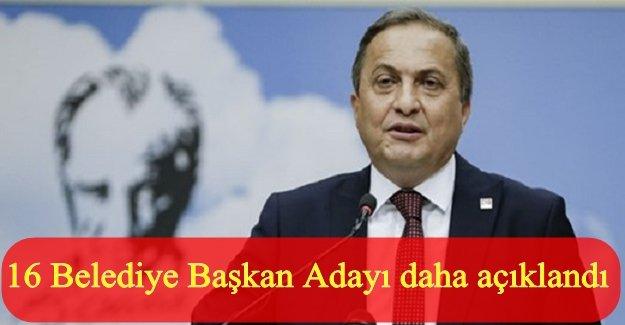 CHP'nin bugün açıkladığı adaylar!
