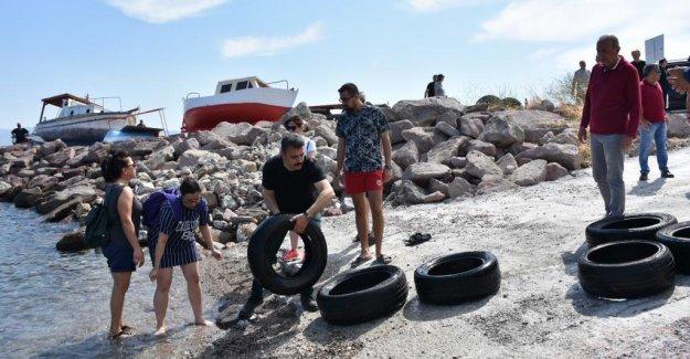 Dikili'de Deniz Temizliği