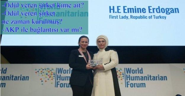 Emine Erdoğan'a verilen ödülün sırrı!