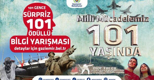 Gaziemir'de 19 Mayıs'ın 101. yılında 101 gence ödül