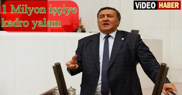 """Gürer: """"Cumhurbaşkanına KİT çalışanları için yanlış bilgi verilmiş!"""""""