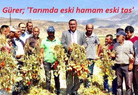 """Gürer: """"Cumhurbaşkanının açıkladığı ekonomik reform paketinde yine çiftçi unutuldu"""""""