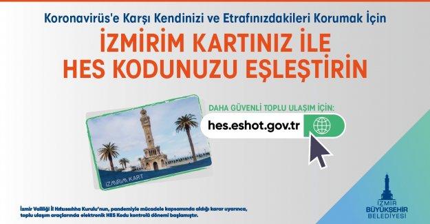 HES Kodu – İzmirim Kart eşleştirmesinde son tarih 11 Ocak
