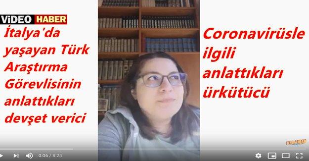 İtalya'da yaşayan Türk akademisyen Senem Önen'in Coronavirüsle ilgili anlattıkları insanı dehşete düşürüyor
