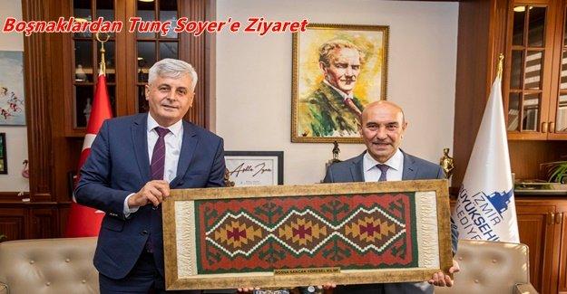 İzmir Bosna Sancak Derneğinden Başkan Tunç Soyer'e ziyaret