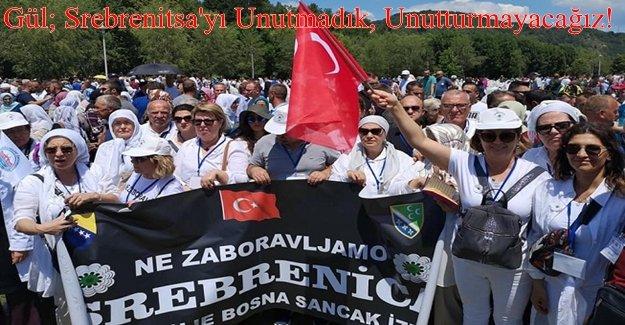 İzmir Bosna Sancak Dernek üyeleri Srebrenitsa anma töreninde...