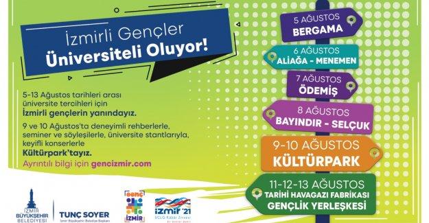 İzmir Büyükşehir Belediyesi üniversite tercihinde gençleri yalnız bırakmıyor