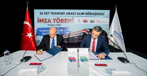 İzmir Tramvayı için dev imza