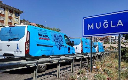 İzmir'den Artvin, Adana ve Muğla'ya destek
