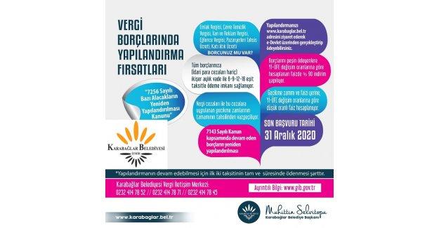 Karabağlar'da 'borç yapılandırması' da internetten