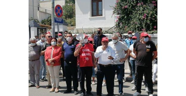 Karaburun'da Disk Üyelerine Yapılan Saldırı Basın Açıklamasıyla Protesto Edildi