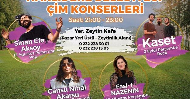 Narlıdere Belediyesi Çim Konserleri başlıyor!