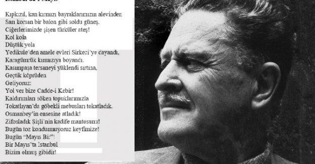 Nazım Hikmet'in 'İstanbul'da 1 Mayıs' şiirini ilk kez 'TÜSTAV' yayımladı