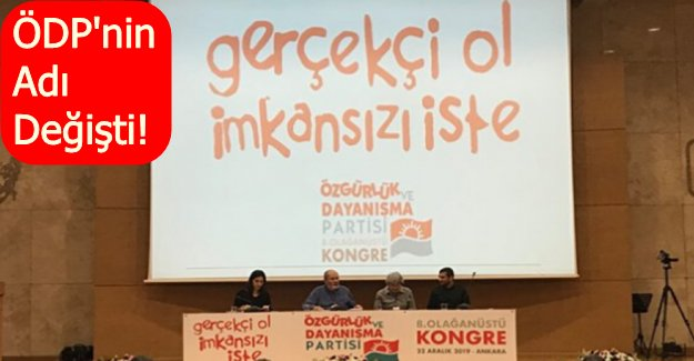 ÖDP kongresinde radikal karar!