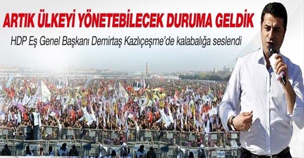 Selahattin Demirtaş İstanbul'da yüzbinlere seslendi