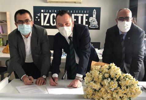 Sendika bir yerel gazetede daha sözleşme imzaladı