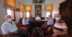 18 Mart Çanakkaleliler Kültür ve Dayanışma Derneği'nden Başkan Ergin'e DAYANIŞMA ZİYARETİ