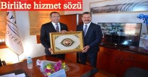 BALIKESİR BB BAŞKANI YÜCEL YILMAZ'DAN, MESUT ERGİN'E ZİYARET