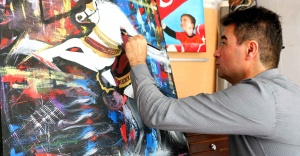 Bayraklı'da ressamlardan uluslararası sanal sergi