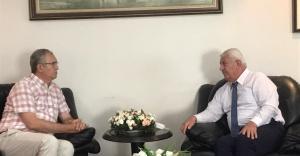 CHP İzmir Milletvekili Atila Sertel, İEOSB Başkanı Mutlu'yu ziyaret etti