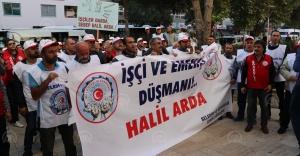 Gaziemir Belediyesi önünde işçi eylemi