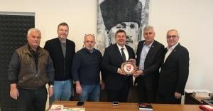 İzmir Bosna Sancak Derneği'nden Başkan Ekrem Oran'a ziyaret