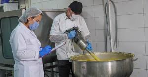 Kent Merkez Mutfak'ta Üretim Çalışmaları Devam Ediyor