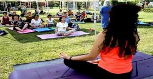 Yoga buluşmasına büyük ilgi
