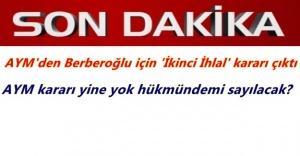 AYM'den Enis Berberoğlu'nun başvurusuna ikinci 'ihlal kararı'