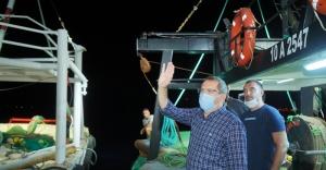 """Ayvalıklı balıkçılar, """"Vira Bismillah"""" dedi"""
