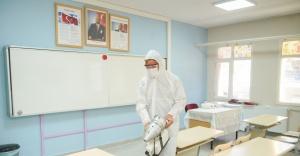 Ayvalık'ta okullara düzenli dezenfeksiyon