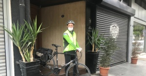 Biz Varız dayanışmasına bisikletli destek