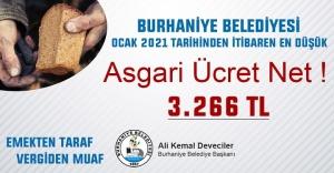 BURHANİYE BELEDİYESİNDE EN DÜŞÜK MAAŞ 3 BİN 266 TL
