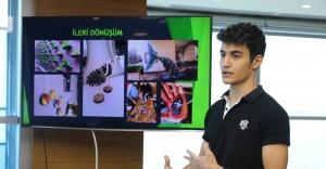 Çevreci öğrenciler Sandal'a projelerini anlattı