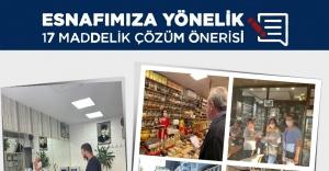 CHP Karşıyaka İlçe Başkanlığı esnafa broşür dağıttı