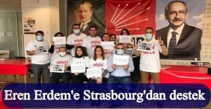 CHP Strasbourg Eren Erdem'e destek için 'Adalet Orucu Nöbeti'ne başladı!
