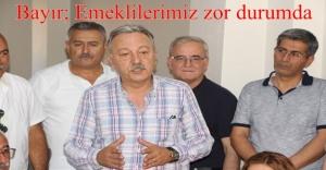 EMEKLİLER LÜTUF DEĞİL HAK İSTİYOR