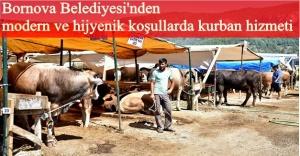 Işıkkent'teki Kurban Satış ve Kesim Alanı'nda her şey hazır