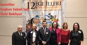 """İzmirliler dernek başkanı Aksu; """"Coşkun Sabah başta İzmirliler olmak üzere tüm Egelilerden özür dilemelidir"""""""