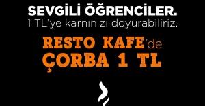 Karşıyaka Belediyesi'nden öğrencilere 1 liraya çorba