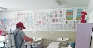 Karşıyaka'daki okullara dip bucak dezenfeksiyon